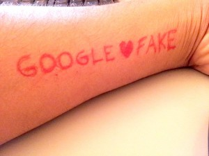 Google et l'apologie du Fake