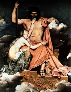 Thetis prying Zeus