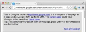 Récupérer son contenu à partir du cache de Google